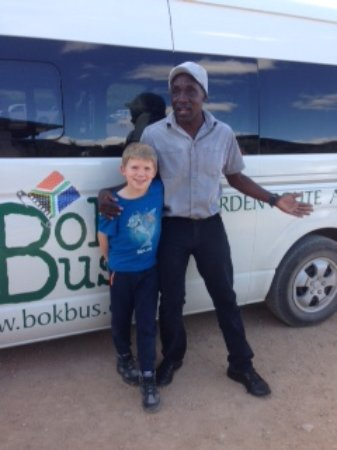 Hout Bay, South Africa: Benjamin and our son