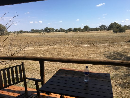 Hwange National Park, Simbabwe: View from the porch
