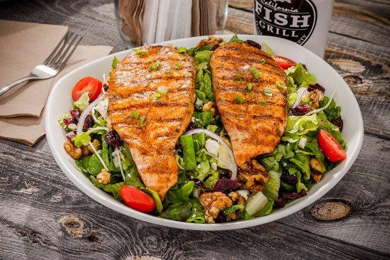 Redlands, Califórnia: Cajun Salmon Salad