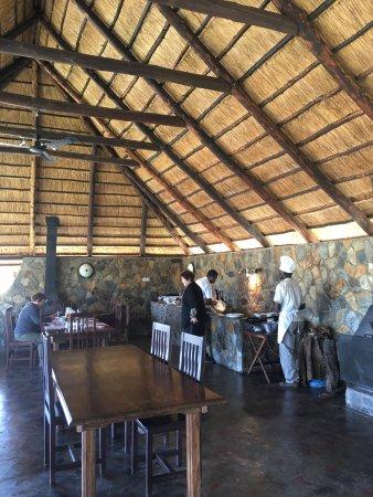 Hwange National Park, Zimbabwe: The Chef MX making our breakfast