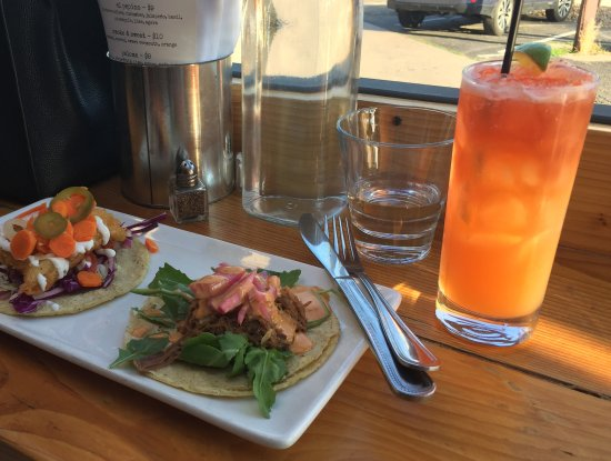 Lyons, CO: rum swizzle and tacos