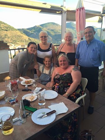 Lovely family time on topterrace with great views