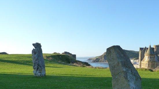 View back to Aberystwyth Bay