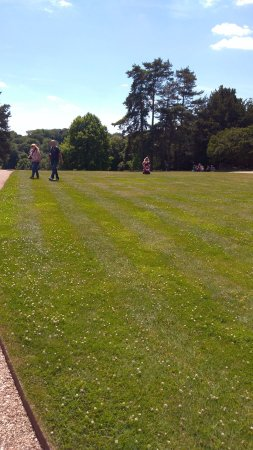 Henley-on-Thames, UK: the lawn forbidden to walk on - later...