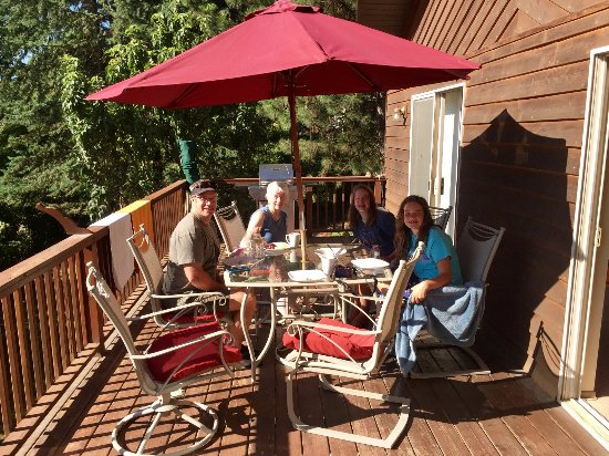 Harrison, ID: Our favorite! Dinners on the deck!