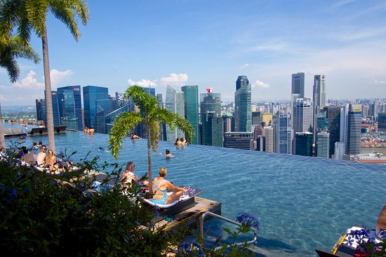 Infinity pool on the top of the hotel Picture of Marina Bay Sands