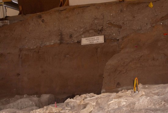 Portales, Nuevo Mexico: Inside the dig site building