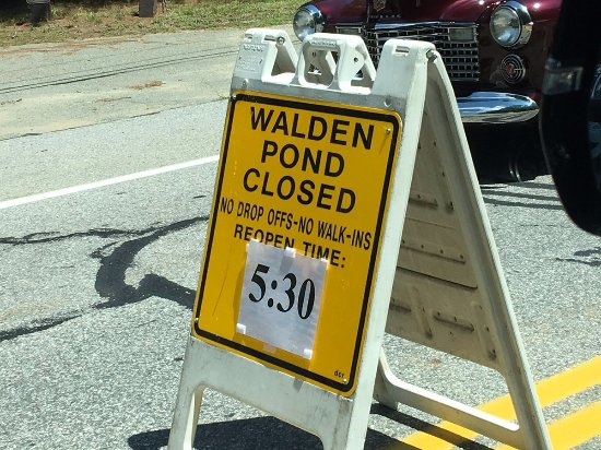 Concord, MA: Who knew they could close a pond?