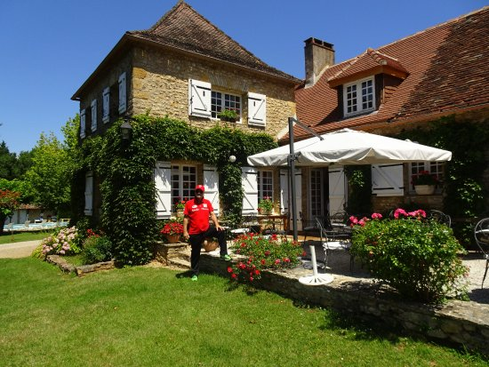 Mauzac, Frankrike: Blick auf Terrasse zum Abendessen und Frühstück