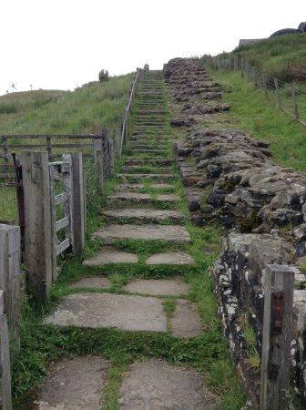 Northumberland, UK: Stairway up the hill near Gilsland.