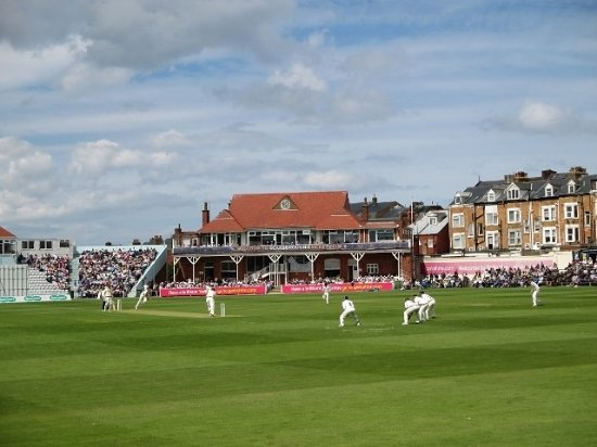 Scarborough Cricket Club: A good crowd on a sunny day