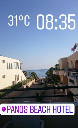Panos Beach Hotel: View from our terrace