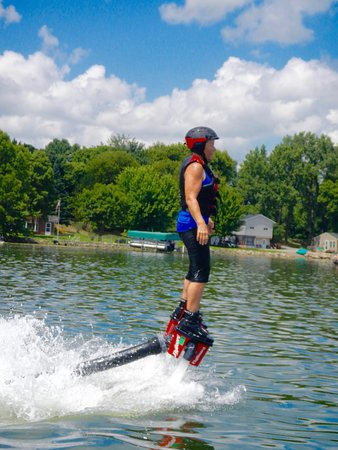 Plymouth, Миннесота: A photo of my mom flyboarding