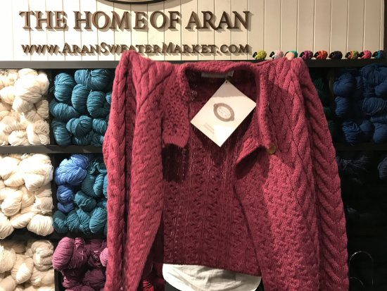 Example Of An Aran Sweater Picture Of Aran Sweater Market Dublin