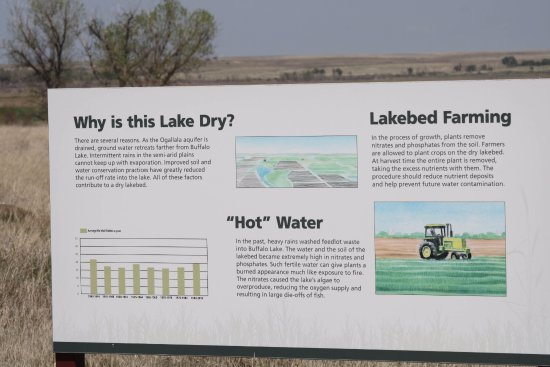 Canyon, TX: Sign for the dry lakebed