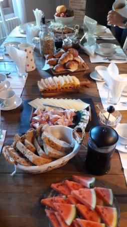 Saint Magne de Castillon, Prancis: Apercu de notre 1er petit déjeuner