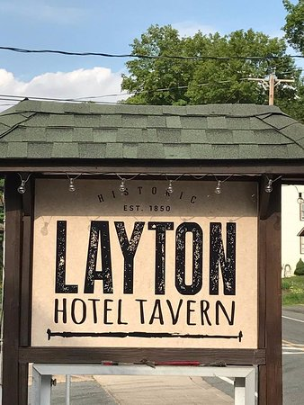 New LAYTON HOTEL TAVERN sign