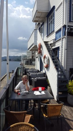 Flekkefjord, Norway: Flotte serveringssteder.