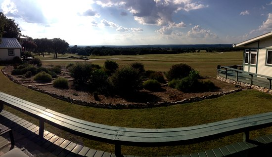 Rose Hill Manor: Looking out from our deck across the hill country
