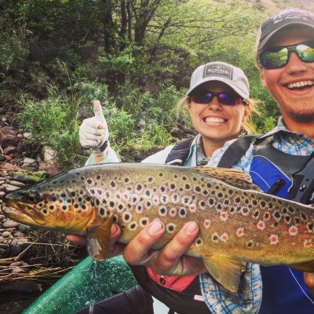 New Castle, CO: Dr. Bartolome caught a huge brown! Kendall was our guide.