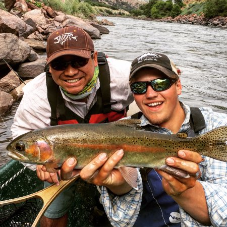 New Castle, CO: I caught a very nice rainbow. Kendall was our guide.