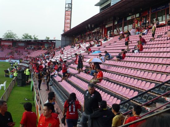 Nonthaburi, Thailand: 1 hr before kick off.