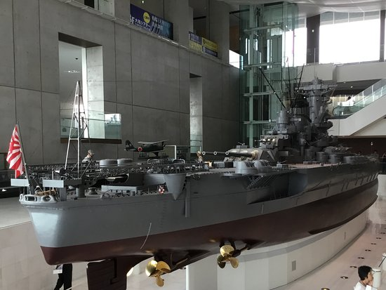 Kure, Japan: Yamato scale model on display