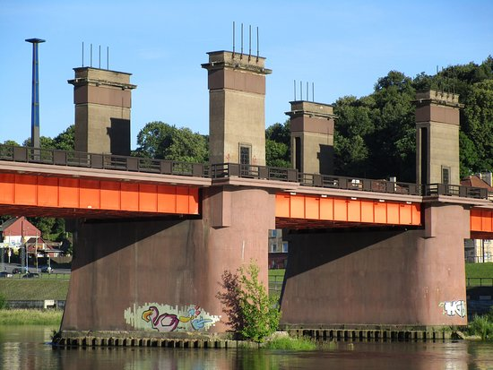Vytautas the Great Bridge : The decorations are now covered