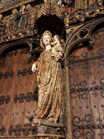 Laguardia, España: Imagen de la Virgen de los Reyes en el parteluz