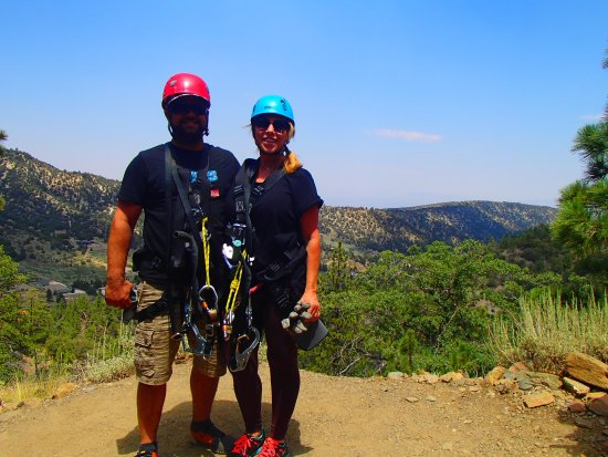 Fun time zip lining at Pacific Crest in Wrightwood,CA