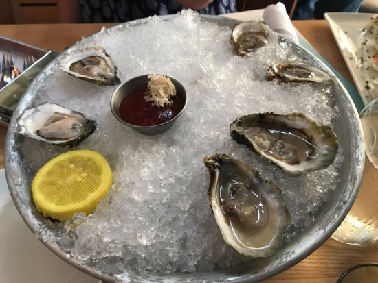 Oysters on the half shell picture of drift fish house for Drift fish house