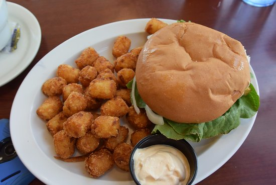 Waseca, MN: hamburguer with hush puppies