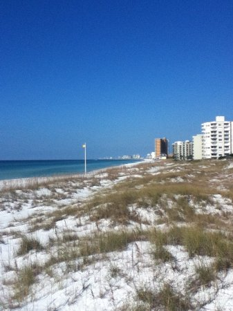 St. Andrews State Park: A view towards Panama City Beach