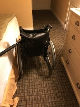 Fontana, WI: Not much room to pass with a wheelchair, in ADA room