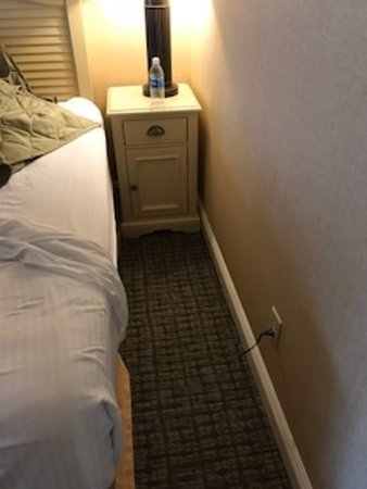Fontana, WI: Not enough room for a wheelchair to access this side of the bed