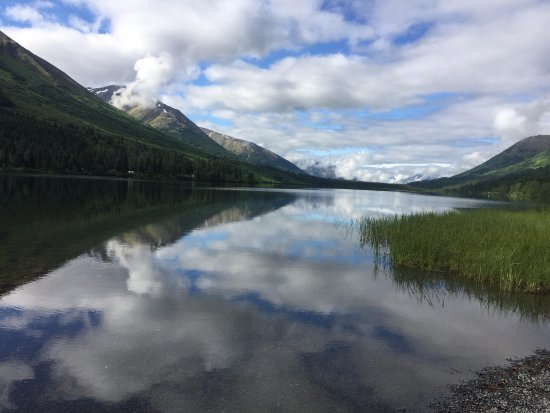 Moose Pass, AK: View from lakefront cabin