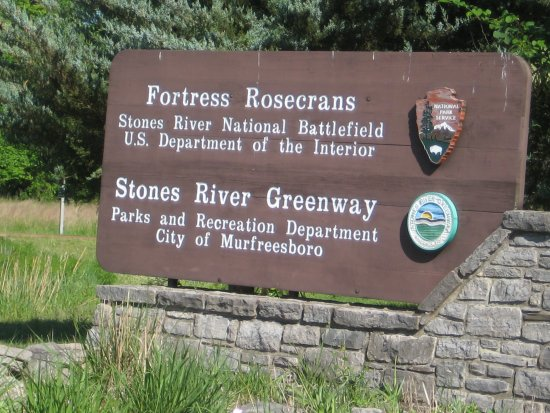 Murfreesboro, TN: Sign for Fortress Rosecrans (and Greenway trails)