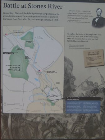 Murfreesboro, TN: Map of Fortress Rosecrans (South of the National Battlefield)