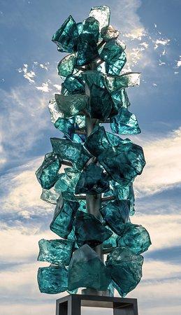 Tacoma, WA: One of the many glass displays on the bridge