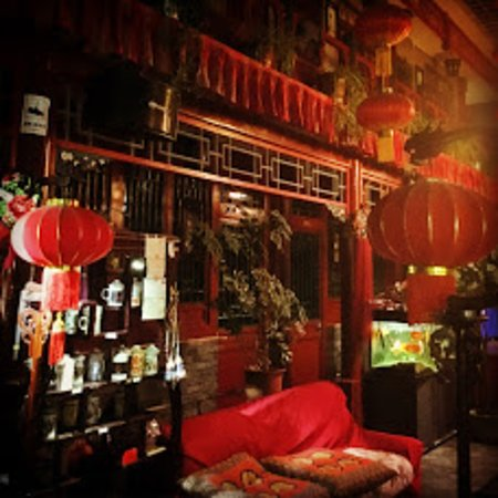 Red Lantern House : Entrada y zona común con decoración tradicional china