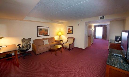 Canonsburg, Pensilvania: Accessible King Suite Living Area