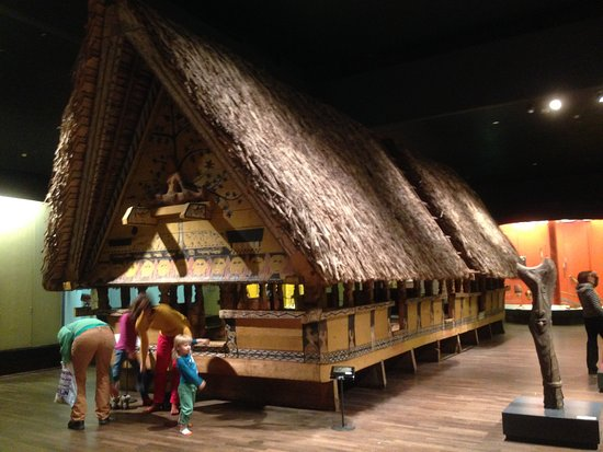 Museum of Ethnology: A replica of Maori ceremonial house, in the Oceania collection.