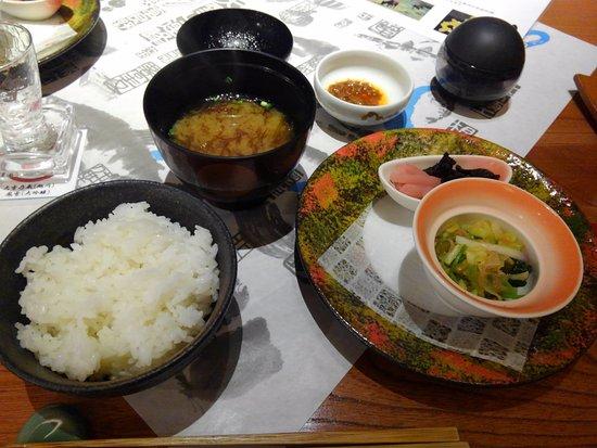 Shiraoi-cho, Japon : 胆東米 フ海苔入り味噌汁