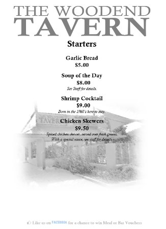 Woodend, New Zealand: Restaurant Starters