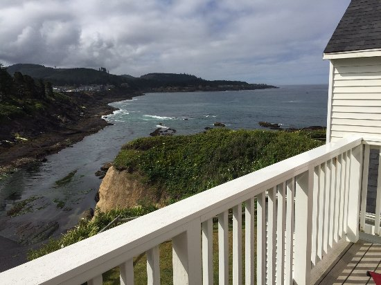 Inn at Arch Rock: View from balcony in Room 17.