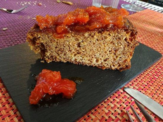 Artenara, España: Tarta de papaya