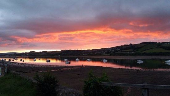 Shaldon, UK: sunset from our caravan