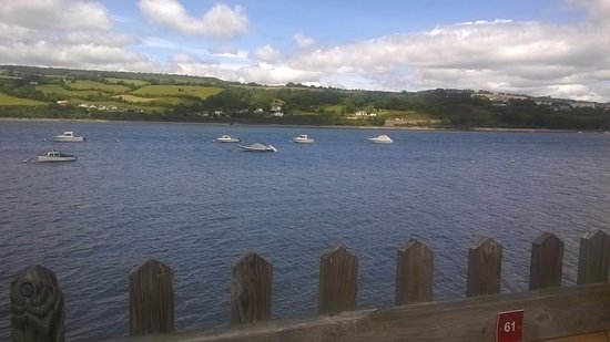 Shaldon, UK: drinks in the bar lovely view