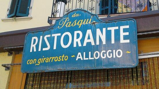 Insegna del Ristorante da Pasqui a Rocca San Casciano (FO)