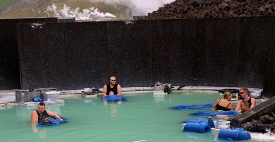 Blue Lagoon Iceland: In the water massage area